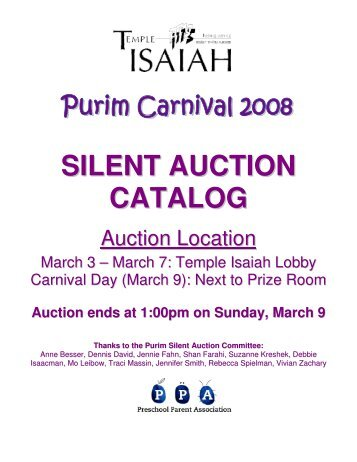 View pdf of live and silent auction catalog minnehaha for Silent auction catalog template