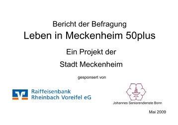 Leben in Meckenheim 50plus - Stadt Meckenheim