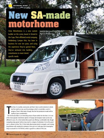 New SA-made motorhome - Vista Motorhomes