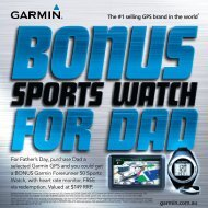 For Father's Day, purchase Dad a selected Garmin GPS and you ...