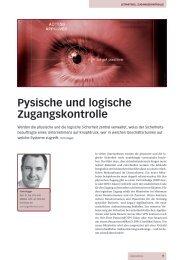 Pysische und logische Zugangskontrolle - InfoTrust AG