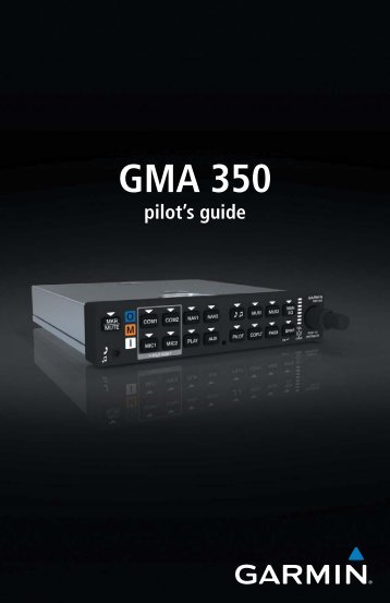 GMA 350 Manual - Garmin
