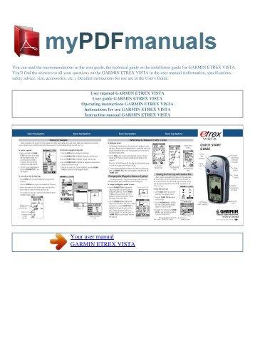 user manual garmin etrex vista cx my pdf manuals rh yumpu com garmin etrex vista hcx manuel d'utilisation garmin etrex vista manual pdf