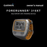 Forerunner 310XT Owner's Manual - Tramsoft