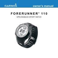 Forerunner 110 Owner's Manual - Garmin