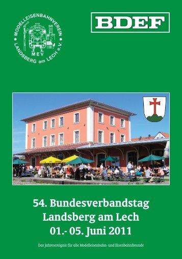 54. Bundesverbandstag Landsberg am Lech 01.- 05. Juni 2011