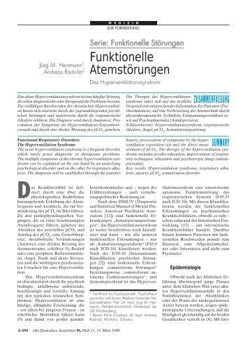 Funktionelle Atemstörungen - Deutsches Ärzteblatt