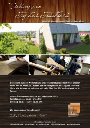Download: Einladung zum Tag des Tischlers - Meyer & Grave