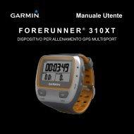 FORERUNNER ® 310XT Manuale Utente - Tramsoft