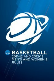 2011-12 AND 2012-13 MEN'S AND WOMEN'S RULES