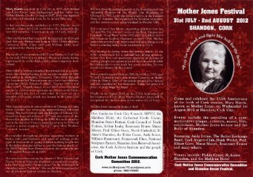Mother Jones Festival Leaflet - Cork City and County Archives