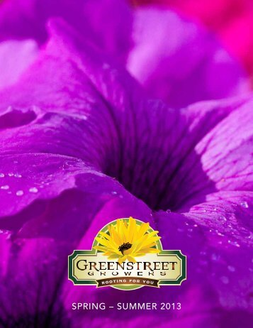 SPRING – SUMMER 2013 - Grow Greenstreet