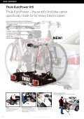 Towbar and rear door mounted bike carriers Thule EuroClassic G5 ... - Page 3