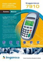 Ingenico 7910 Solution mobile GPRS pour la restauration et le ...