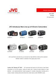 JVC Introduces New Line-up of 8 Everio Camcorders