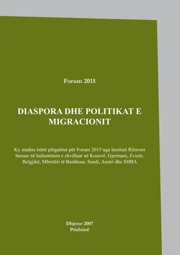 DIASPORA DHE POLITIKAT E MIGRACIONIT - Riinvest Institute
