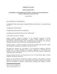 DYREKTYWA RADY z dnia 23 grudnia 1991 r ... - CIRE.pl