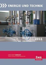 Geschäftsbericht 2011 - EWA Altenburg