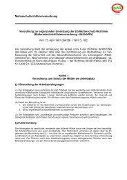 Mutterschutz-Richtlinien-Verordnung (MuSchRiV) - Arbeitssicherheit ...