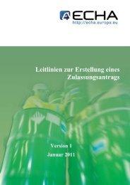 Leitlinien zur Erstellung eines Zulassungsantrags - ECHA - Europa