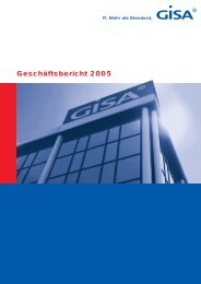 Geschäftsbericht 2005 - GISA GmbH