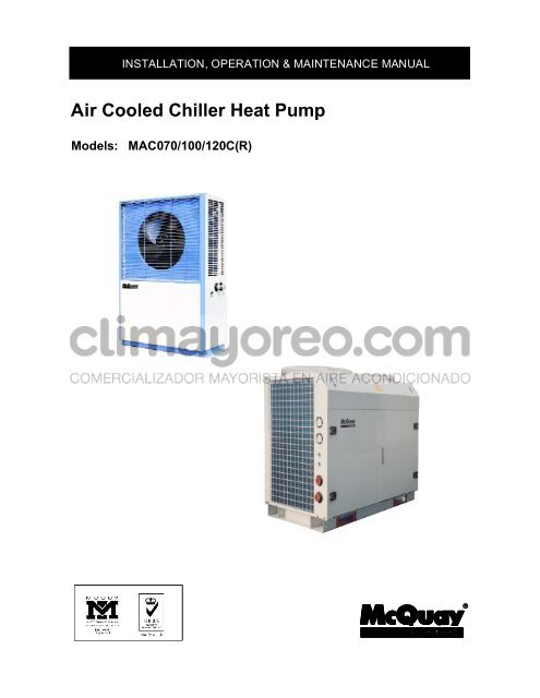 Air Cooled Chiller Heat Pump Climayoreo