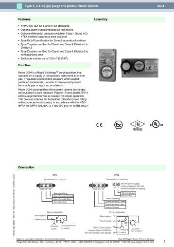 3004 Type Y, Z & Ex [pz] purge and pressurization ... - Pepperl+Fuchs