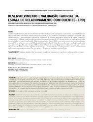 DEsENVoLViMENto E VaLiDaÇÃo FatoriaL Da ... - RAE Publicações