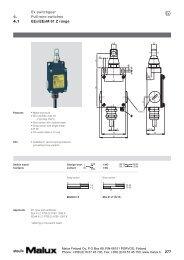 277 Ex switchgear Pull-wire switches EEx/EExM 61 Z range 4. 4.1