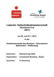 Spielplan Labertal Senioren 2013 - Landkreis Straubing-Bogen