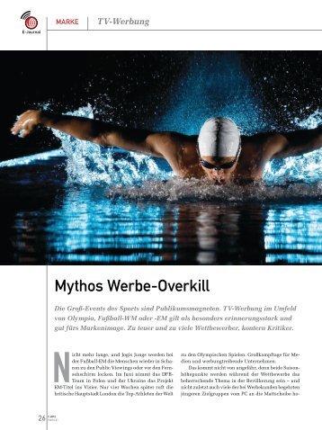 """Artikel zum Thema """"Mythos Werbe-Overkill"""" - ZDF Werbefernsehen"""
