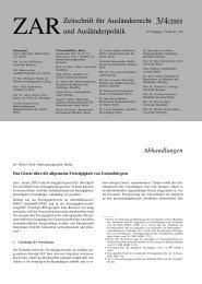 Das Gesetz über die allgemeine Freizügigkeit von ... - ZAR
