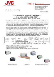 JVC Introduces Hard Disk Camcorders Everio GZ-MG77 and GZ ...
