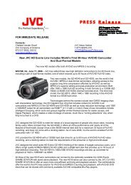 JVC New HD Everio Camcorders