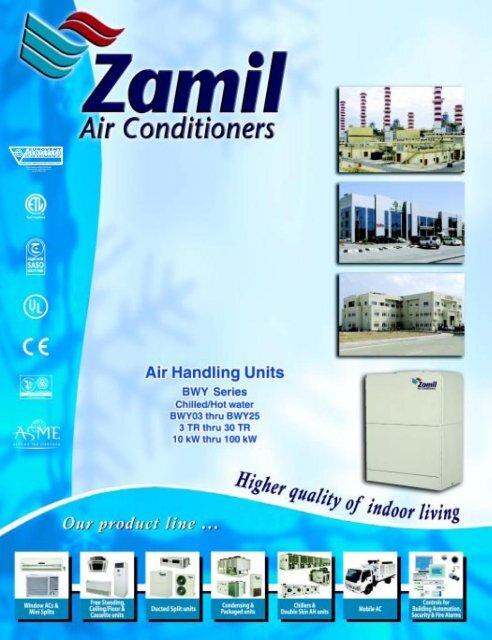 dimensions - Zamil Air Conditioners