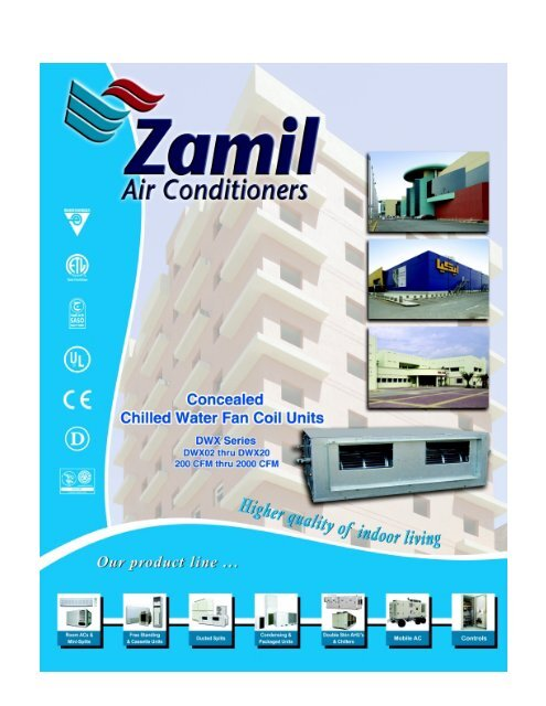 Concealed Chilled Water Fan Coil Units - Zamil Air Conditioners