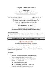 Luftsportverband Bayern e.V. Modellflug - MFC-Kulmbach Land eV