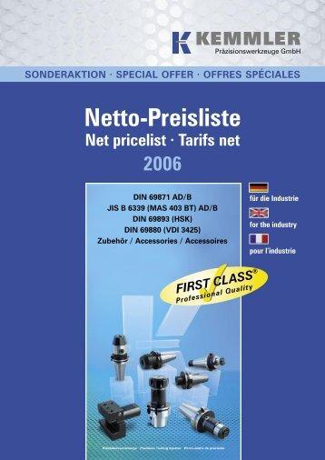 Netto-Preisliste