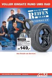 Aus Freude Am Service! - MLX Reifen, Räder und mehr