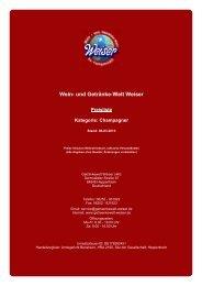 Preisliste für Kategorie: Champagner - und Getränke-Welt Weiser