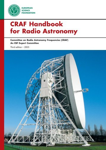 Expert Committee Committee on Radio Astronomy Frequencies CRAF