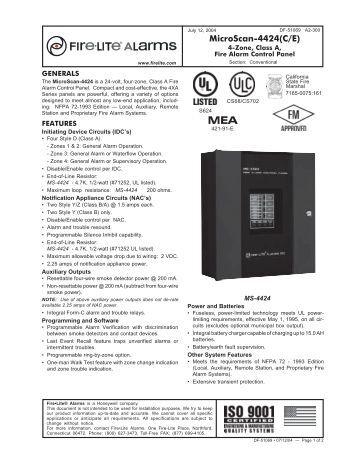 Fire lite ms 9050ud manual