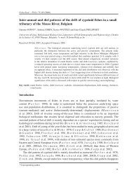 Inter-annual and diel patterns of the drift of cyprinid fishes in a small ...