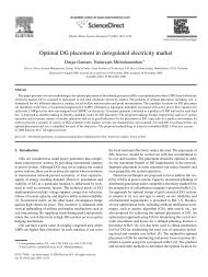 Optimal DG placement in deregulated electricity market - School of ...