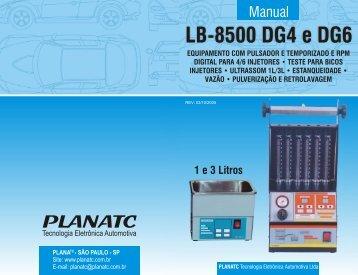 Manual LB-8500 DG4 e DG6 - Planatc