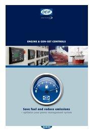 engine & gen-set controls save fuel and reduce emissions - Deif
