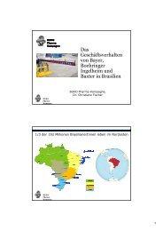 Das Geschäftsverhalten von Bayer, Boehringer ... - FUgE Hamm