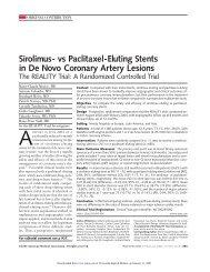 vs Paclitaxel-Eluting Stents in De Novo Coronary Artery Lesions