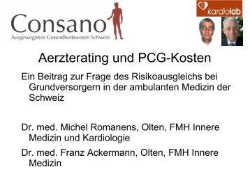 Aerzterating und PCG-Kosten - Consano