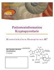 Patienteninformation Kryptopyrrolurie - Heck Bio-Pharma GmbH